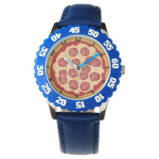 Relógio da pizza com números
