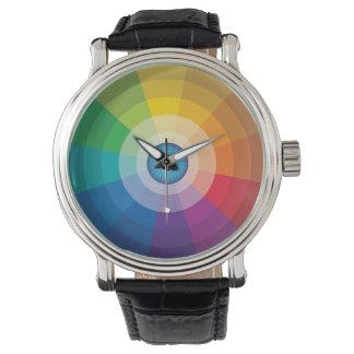 Relógio da roda de cor do globo ocular