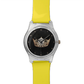 Relógio da senhorita América ouro coroa o 28 de
