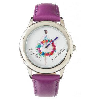 Relógio de aço inoxidável atrativo para miúdos
