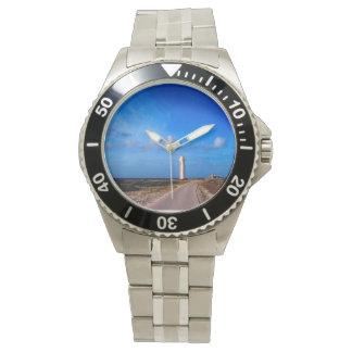 Relógio de aço inoxidável clássico, de aço