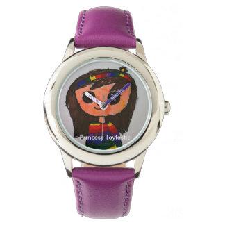 Relógio de aço inoxidável da princesa Toytastic
