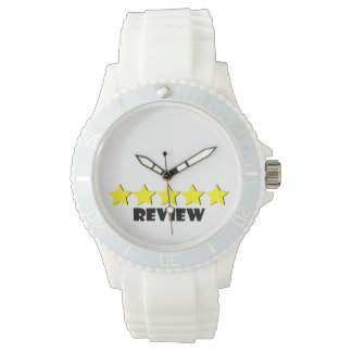 relógio de cinco estrelas da revisão