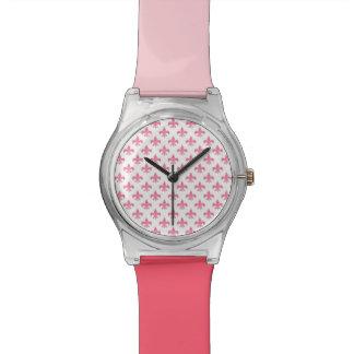 Relógio de duas cores da banda da flor de lis