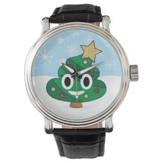 Relógio de Emoji do tombadilho da árvore de Natal
