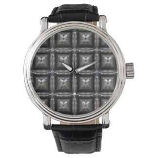Relógio de forma Blocky Steampunk do teste padrão