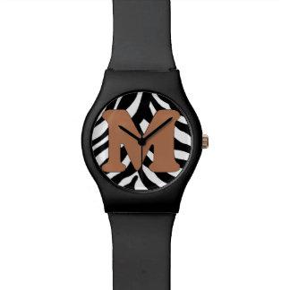 Relógio de forma da M-Zebra