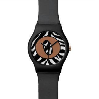 Relógio de forma da O-Zebra