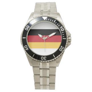 Relógio de homens alemão da bandeira