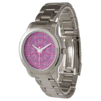 Relógio de homens colorido roxo   cor-de-rosa do