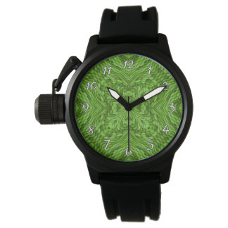 Relógio de homens colorido verde indo do vintage