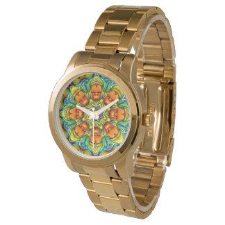 Relógio de homens      do vintage do caleidoscópio