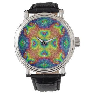 Relógio de homens do vintage   do céu da tintura