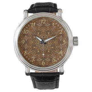 Relógio de homens    rústico do vintage das