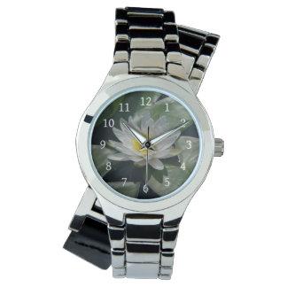 Relógio de Lotus branco Waterlily