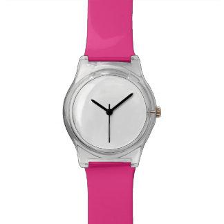 Relógio de May28th com banda cor-de-rosa