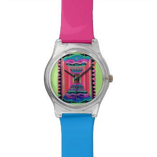 Relógio de néon Funky da ilusão