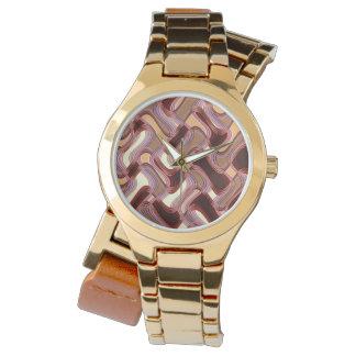 Relógio de ouro do Wraparound das mulheres do