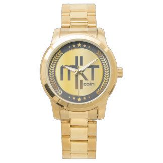 Relógio de ouro dos homens de Mktcoin MLM