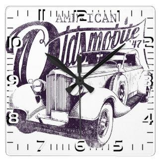 "Relógio de parede ""American Olds Mobile"""