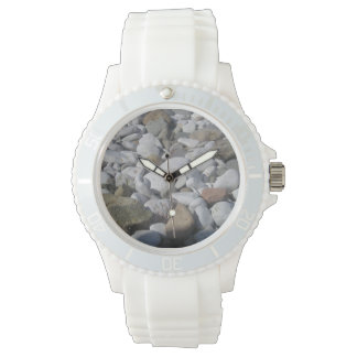 relógio de pedra do silicone do design