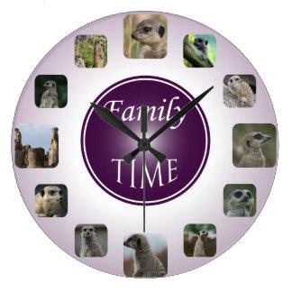 Relógio de ponto da família - roxo