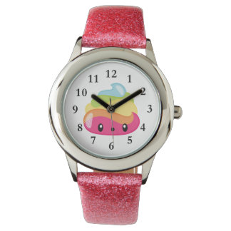Relógio de Poo Emoji do arco-íris