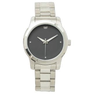 Relógio de prata do bracelete da coroa das