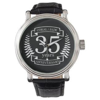 Relógio De Pulso 35o JADE/CORAL do ANIVERSÁRIO de casamento