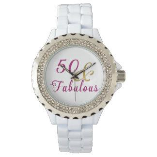 Relógio De Pulso 50 e rosa fabuloso, Glam e ouro