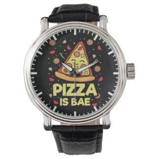 Relógio De Pulso A pizza é Bae - desenhos animados engraçados -