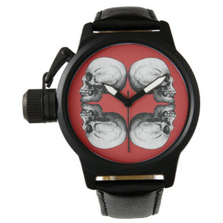 Relógio De Pulso A proteção do crânio do Dia das Bruxas desossa o