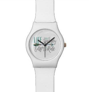 Relógio De Pulso A vida é uma viagem aprecia o Wanderlust de Boho