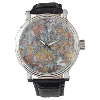 Relógio De Pulso abstrato shriveled pap do teste padrão da textura