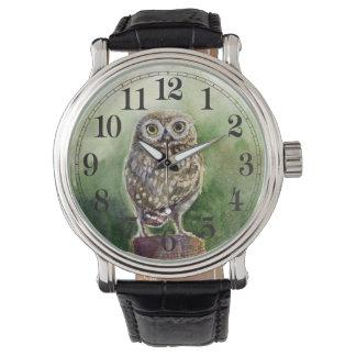 Relógio De Pulso Aguarela da coruja pequena