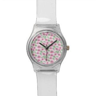 Relógio De Pulso Aguarela floral