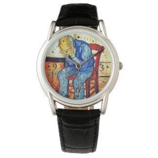 Relógio De Pulso Ancião Sorrowing por Van Gogh