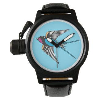 Relógio De Pulso Andorinha no céu azul