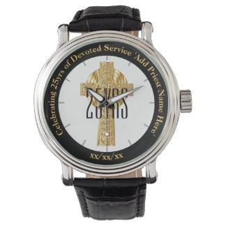 Relógio De Pulso Aniversário da classificação do presente do padre