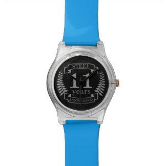 Relógio De Pulso Aniversário de casamento do aço décimo primeiro 11