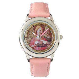 Relógio De Pulso ANJO COM ROSAS E as gemas cor-de-rosa de GABRIEL