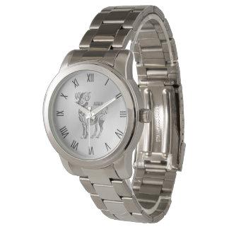 Relógio De Pulso Aries os numerais romanos da prata do zodíaco da
