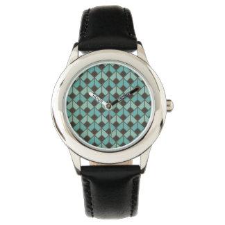 Relógio De Pulso art deco, teste padrão do fã, vintage, 1920 era,