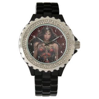 Relógio De Pulso Arte cómica Batalha-Pronta da mulher maravilha
