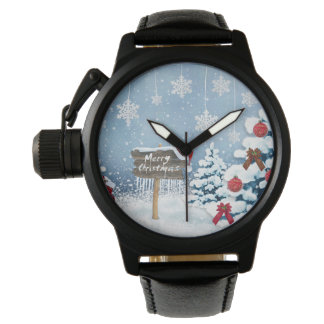 Relógio De Pulso Arte do Natal - ilustrações do Natal