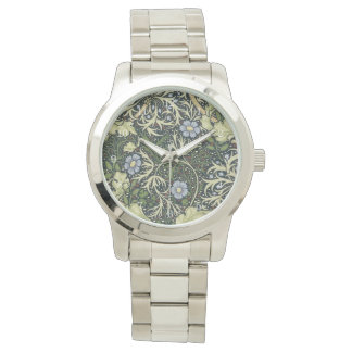 Relógio De Pulso Arte floral do vintage do teste padrão da alga de