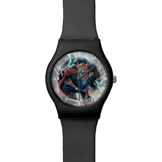 Relogio De Pulso Arte relativa à promoção cómica do superman/mulher