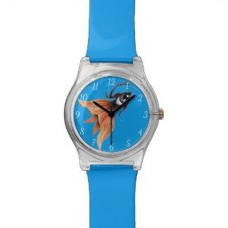 Relógio De Pulso Arte surreal do original da fantasia do peixe