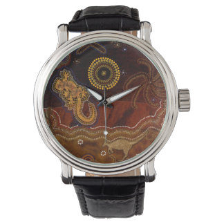 Relógio De Pulso Arte temático II do interior aborígene australiano