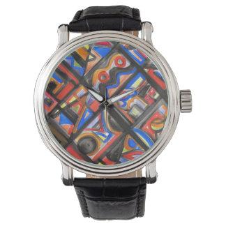 Relógio De Pulso Arte urbana do Um-Abstrato da rua geométrica